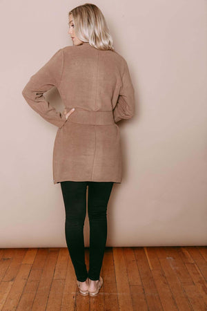 Sophia - Reversible Wrap Jacket Tan/Chocolate
