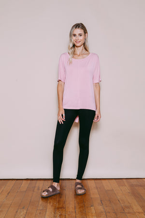 Jessica - Convertible Tee Dusty Pink