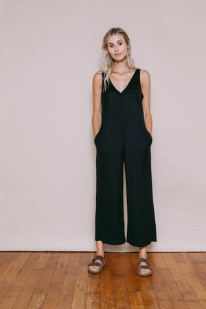 Brooklyn - Lounge Romper Black