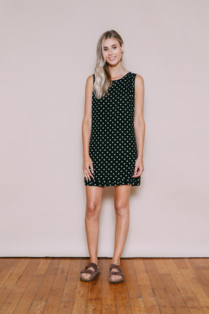 Emily - Sundress Black Dots