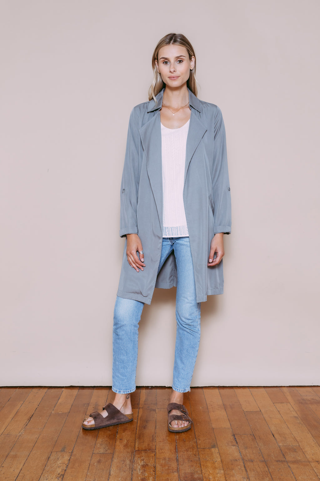 Suzie - Summer Trench Grey