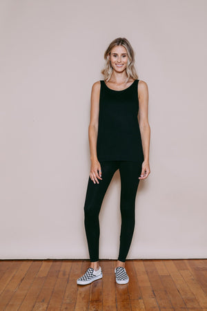 Claire - Reversible Easy Fit Tank Black