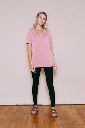 Josephine - Easy Fit V-Neck Dusty Pink