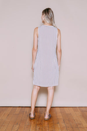 Angie - Shirtdress Neutral Stripe