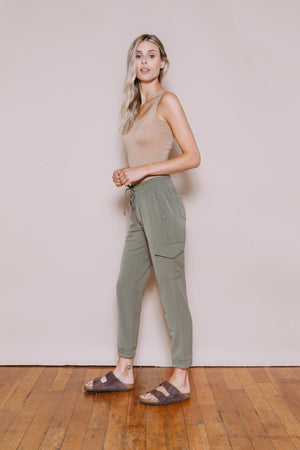 Skylar - Woven Safari Pant Light Olive