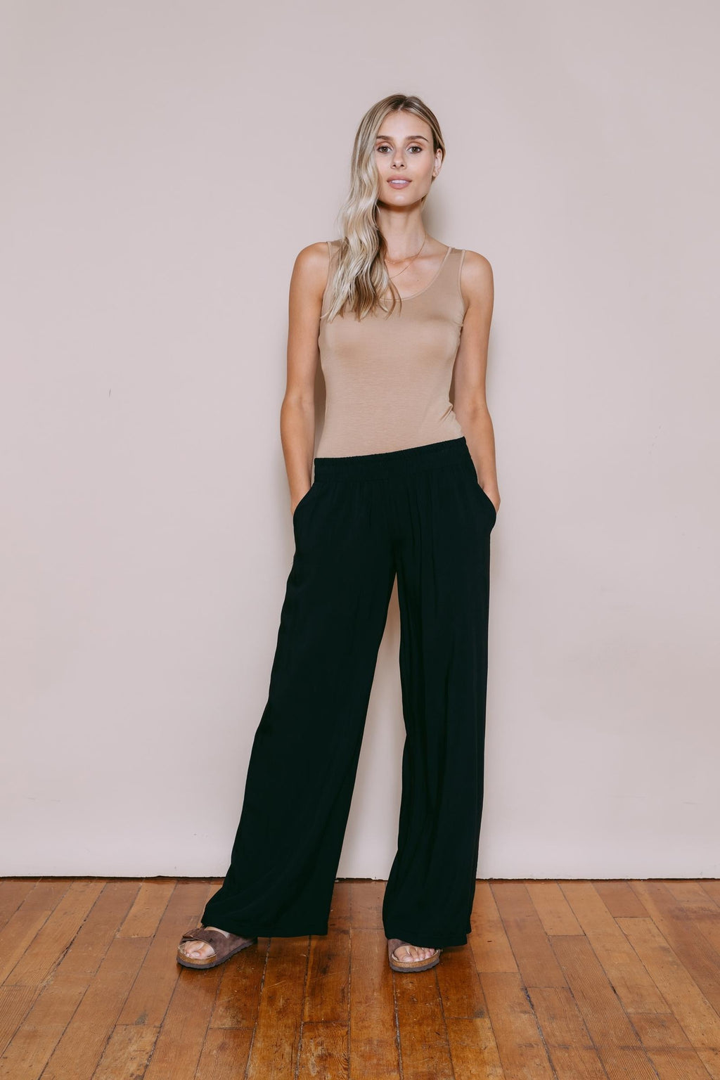 Stevie - Wide Leg Pant Black