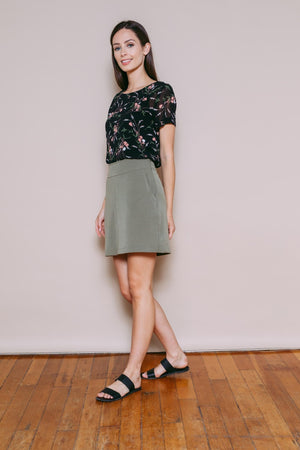 Parker - A-Line Skirt Light Olive
