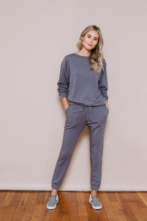 Lena - Knit Jogger Grey