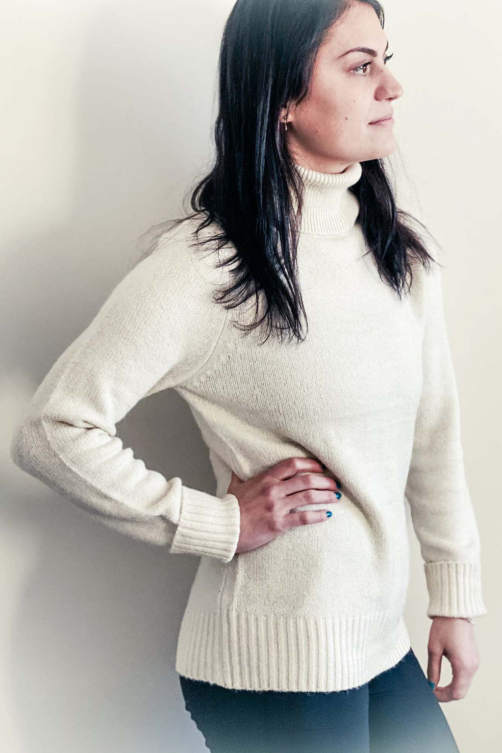 Amanda - Turtleneck Sweater Cream