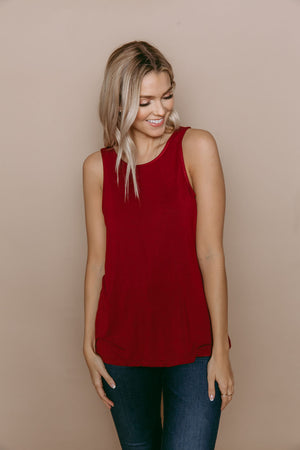 Cassi - Reversible Easy Fit Tank Wine