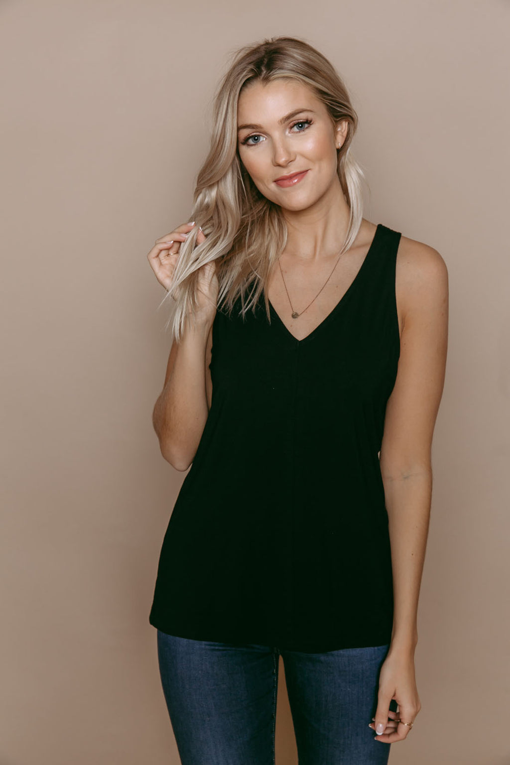 Cassi - Reversible Easy Fit Tank Black