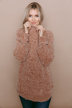 Bella - Chenille Sweater Tunic Champagne
