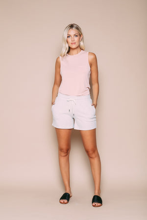 Diana - Supersoft Pull-on Short Heathered Grey
