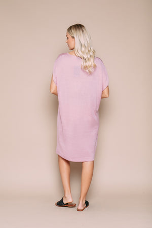Emma - Sleeveless Sweater Dress Soft Pink