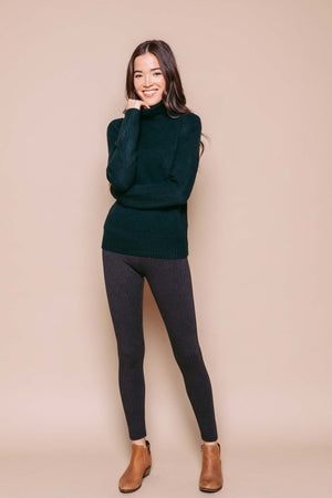 Amanda - Turtleneck Sweater Deepest Green