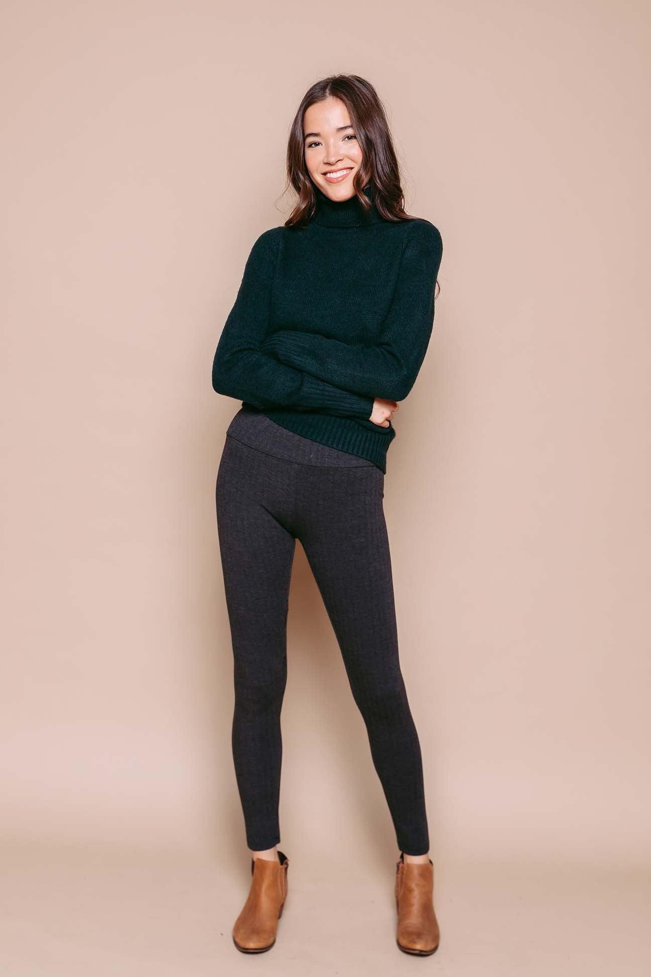 Leila - Ultrastretch Textured Legging Herringbone