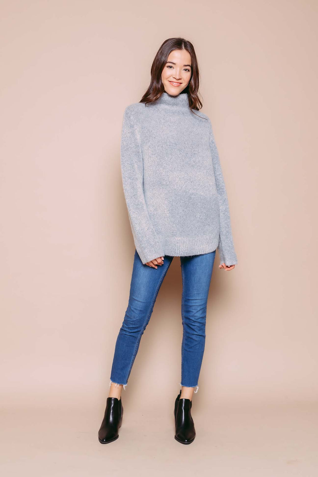 Bella - Sweater Tunic Grey