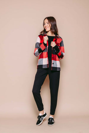 Sammi - Shirt Jacket Red Check