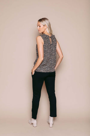 Jasmine - Reversible Gathered Cami Neutral Leopard