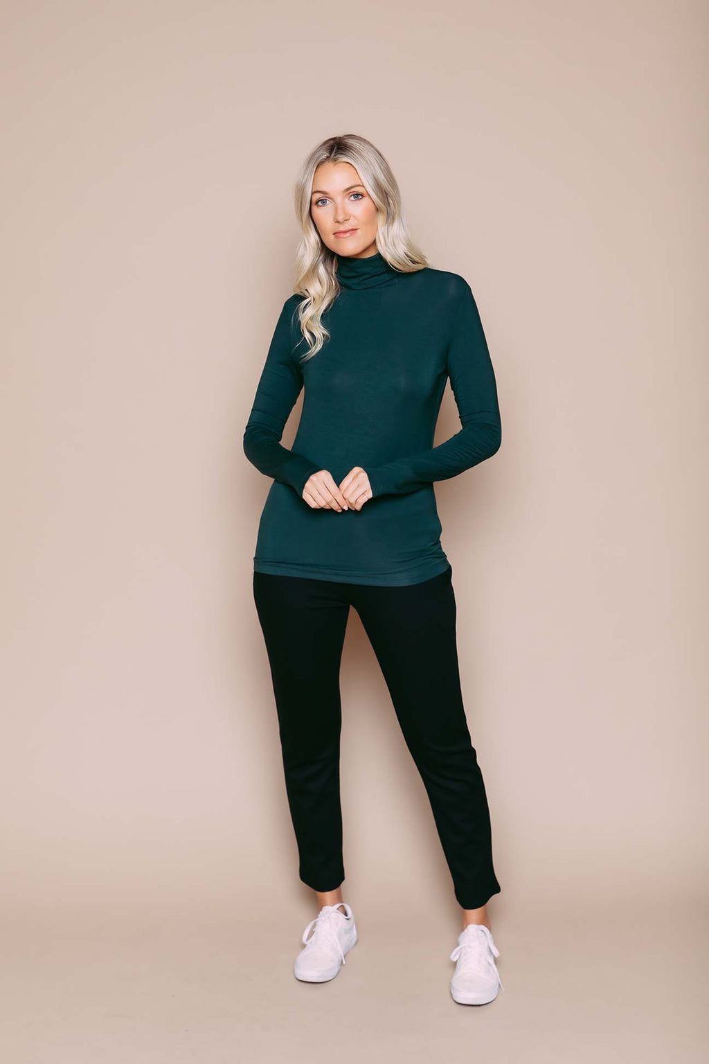 Camille - Turtleneck Deepest Green