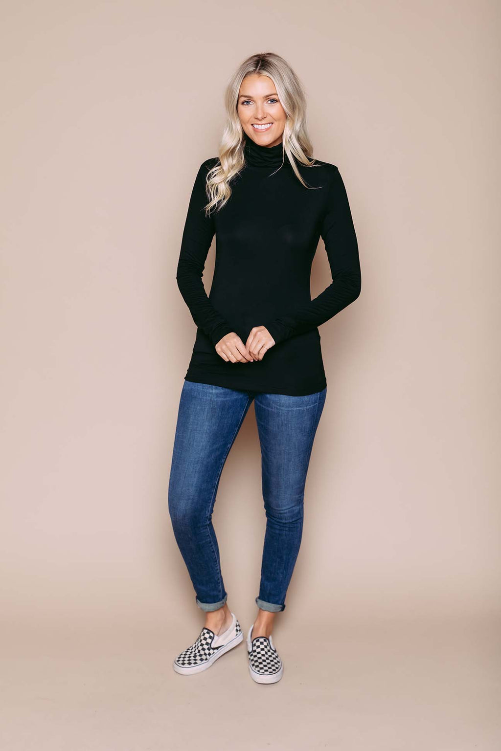 Camille - Turtleneck Black