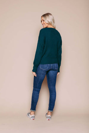 Leah - Luxe Knit Cardi Deepest Green