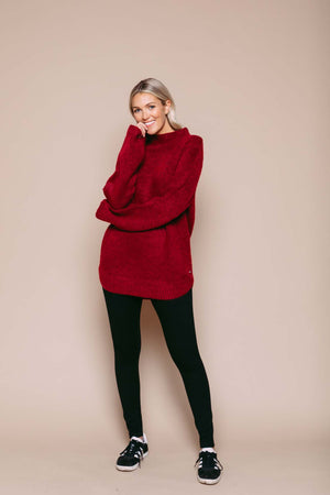 Bella - Sweater Tunic Brick Melange