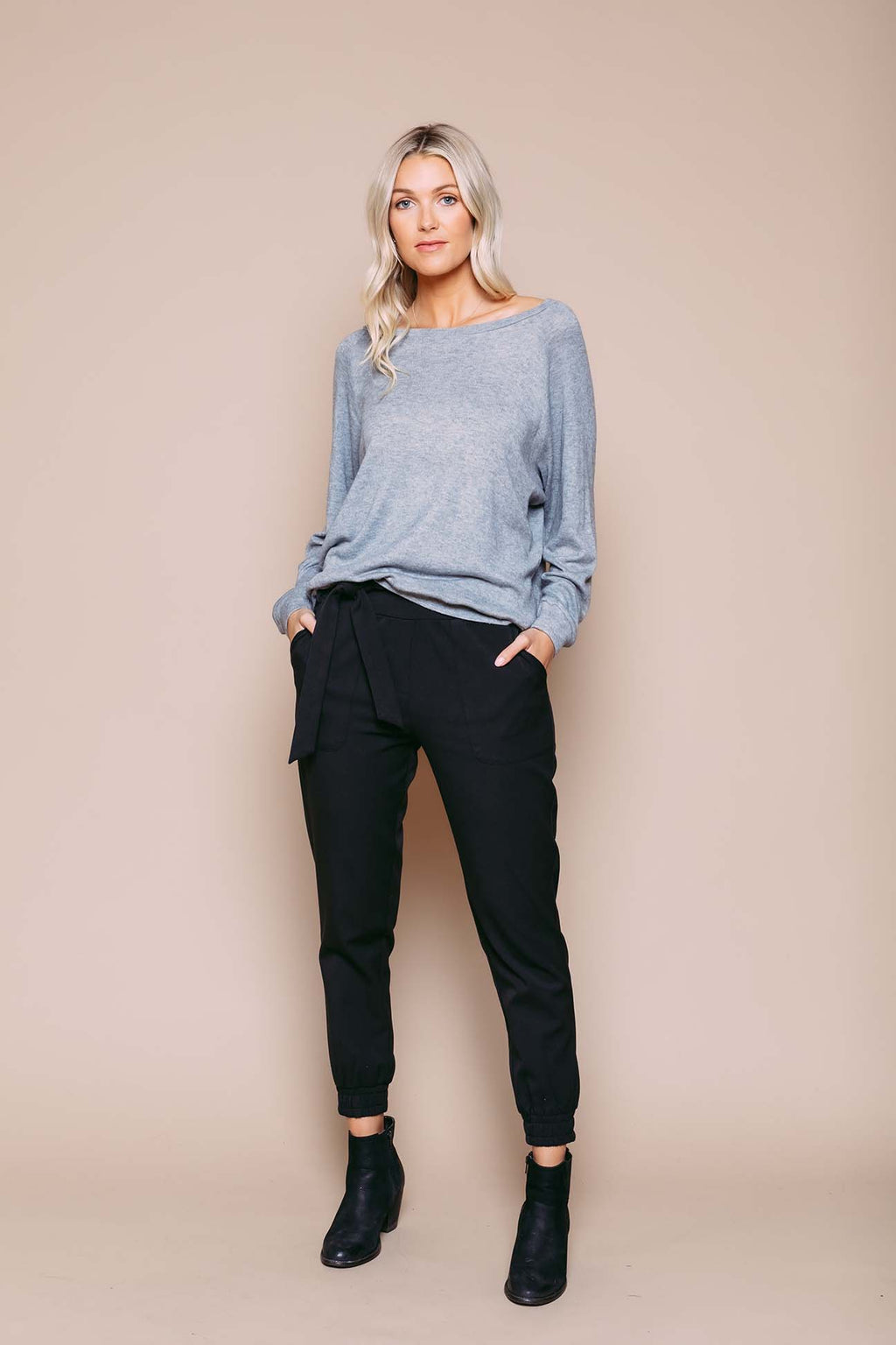 Melissa - Slouchy Raglan Grey Heather