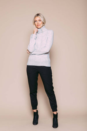 Amanda - Turtleneck Sweater Light Grey Heather