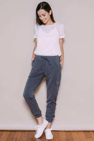 Skylar - Woven Safari Pant Light Grey