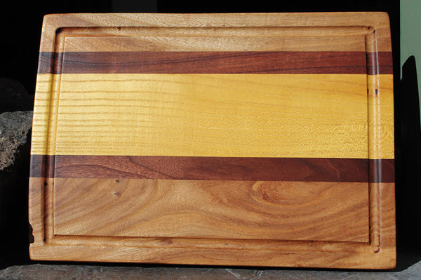 Multi Wood Cutting Board With Juice Groove
