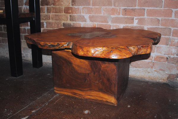 Ponderosa Pine Table with Alabaster Inlay