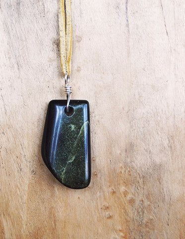 Richolite Pendant on Leather