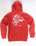 Men's - Ludo Bites * Los Angeles Red Hoodie Sweatshirt