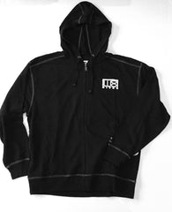 Men's - LudoBites Zip-Front Hooded Sweatshirt in Black