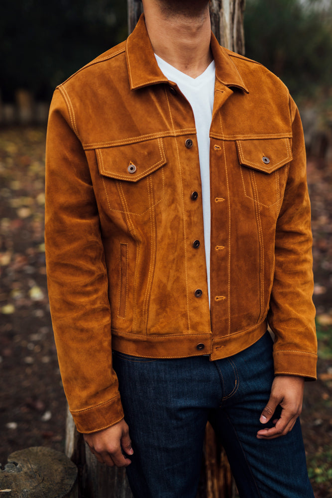 LOVE COLLECTION SUEDE TRUCKER JACKET
