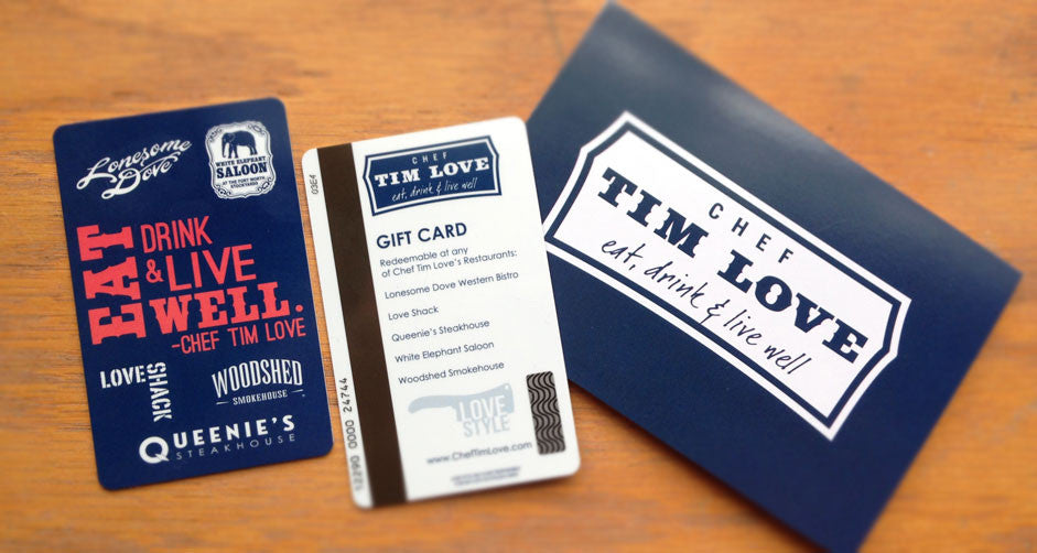 Tim Love Restaurants Gift Card