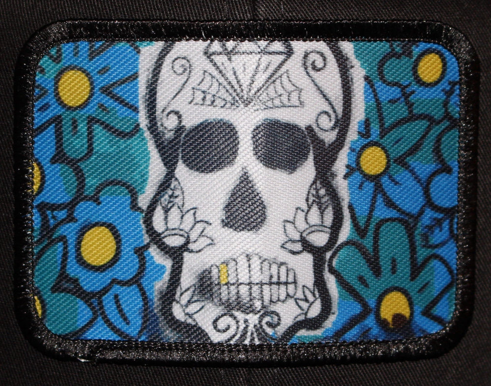 Snapback Skull Patch Hat - Woodshed Wall