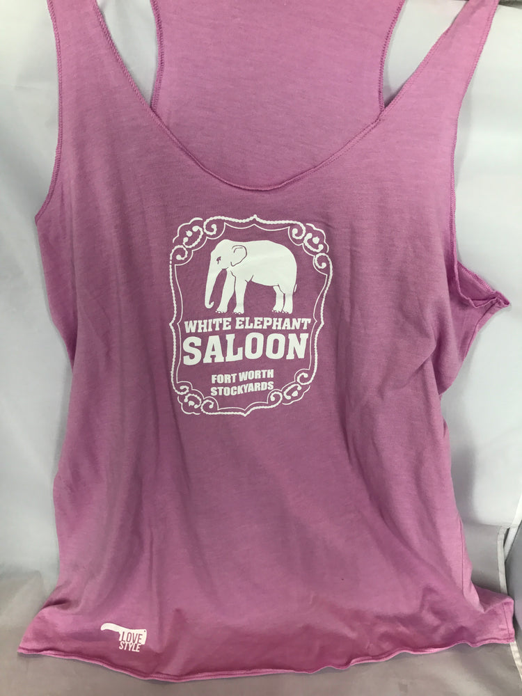 White Elephant Ladies Next Level Racerback Tanks