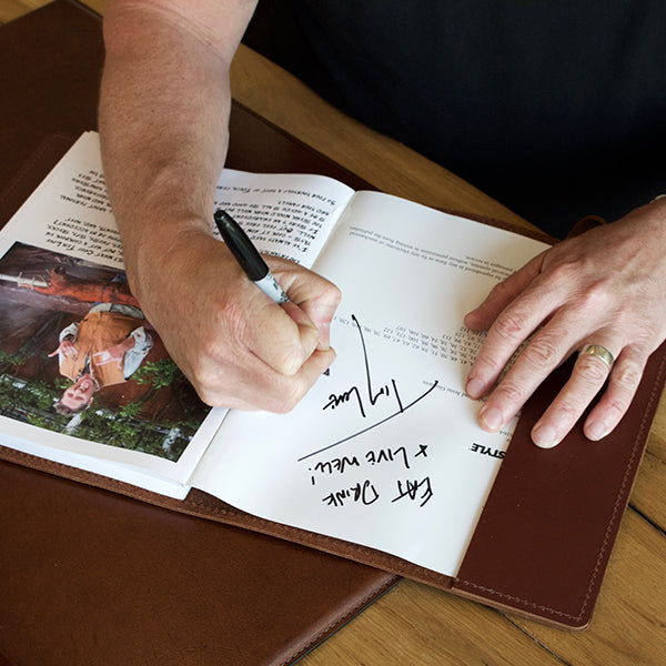 Chef Tim Love's Leather-bound Journal Cook Book #1