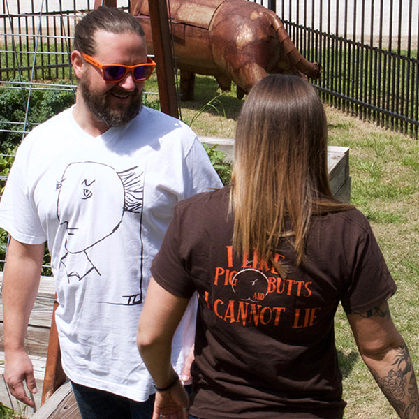 "The Woodshed Smokehouse ""I Like Pig Butts"" T-Shirt"