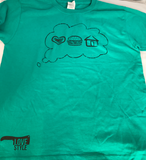 "Love Burger Shack Youth ""I Like To Get Dirty"" Crew Tee"