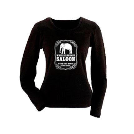 White Elephant Saloon Ladies Long Sleeve T