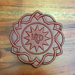Official Lonesome Dove Leather Drink Coasters