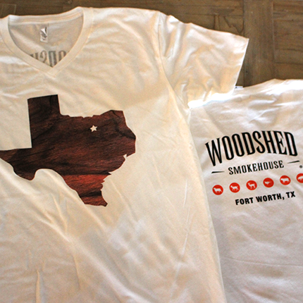 WOODSHED SMOKEHOUSE TEXAS TEE'S