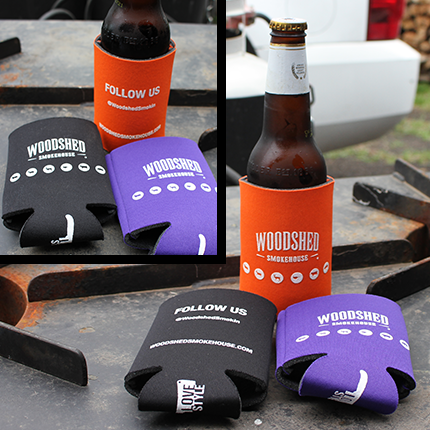 The Woodshed Smokehouse Koozie