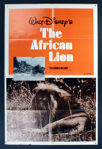 African Lion (1955) R72 US One Sheet Movie Poster