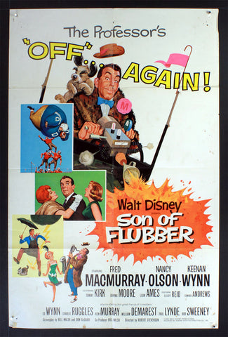 Son of Flubber (1963) US One Sheet Movie Poster
