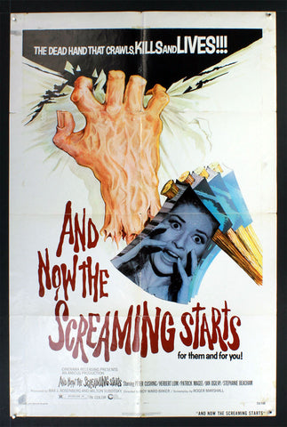 And Now the Screaming Starts (1973) US One Sheet Movie Poster