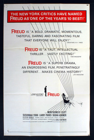 Freud (AKA Secret Passions) [Reviews] (1963) US One Sheet Movie Poster